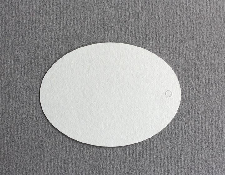 10 Tags oval blanko Größe 50