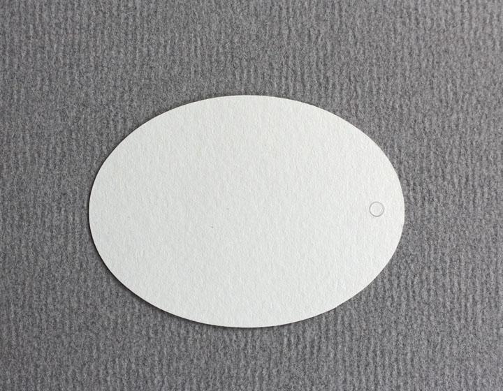 10 Tags oval, blanko, Größe 50 mm - 1