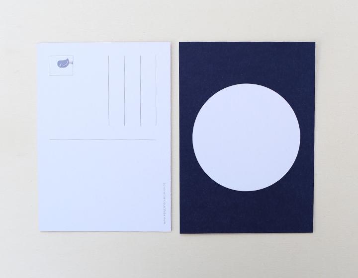 Postkarte Kreis dunkelblau 2