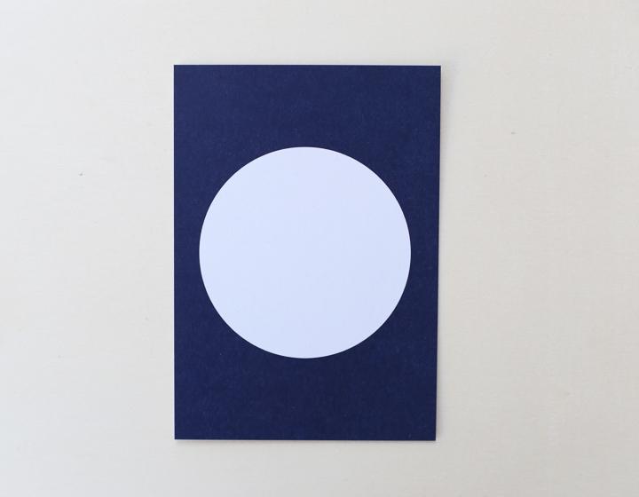 Postkarte Kreis dunkelblau