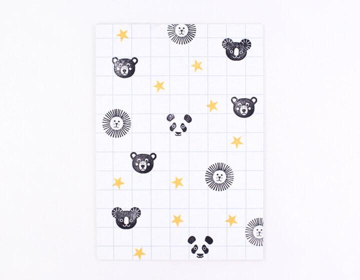 Stempel Pandakopf 2