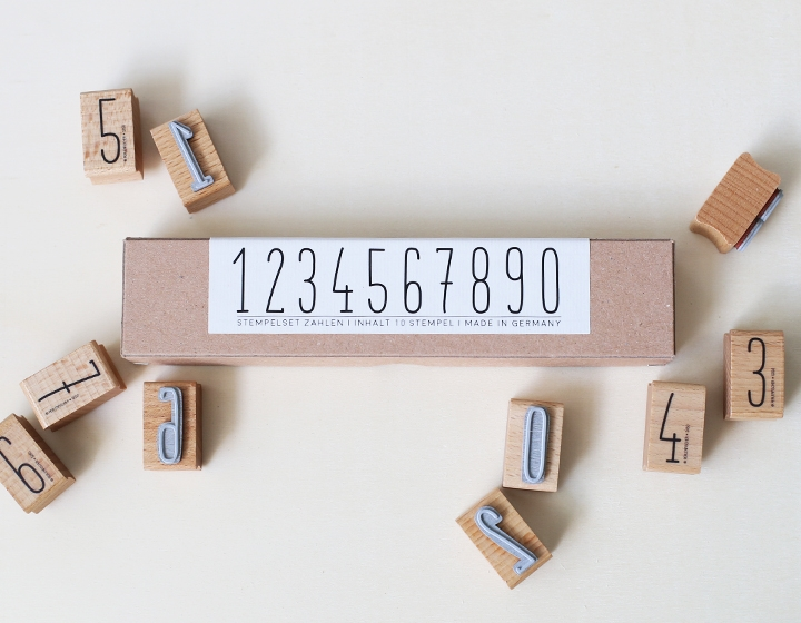 Stempel Zahlenset