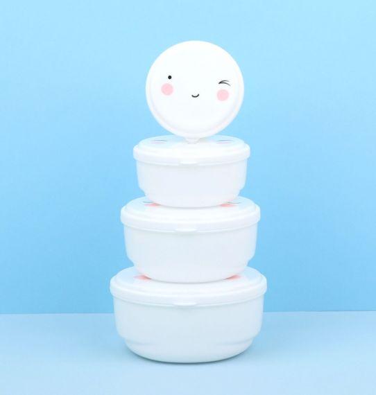 Brotdosenset happy face 2