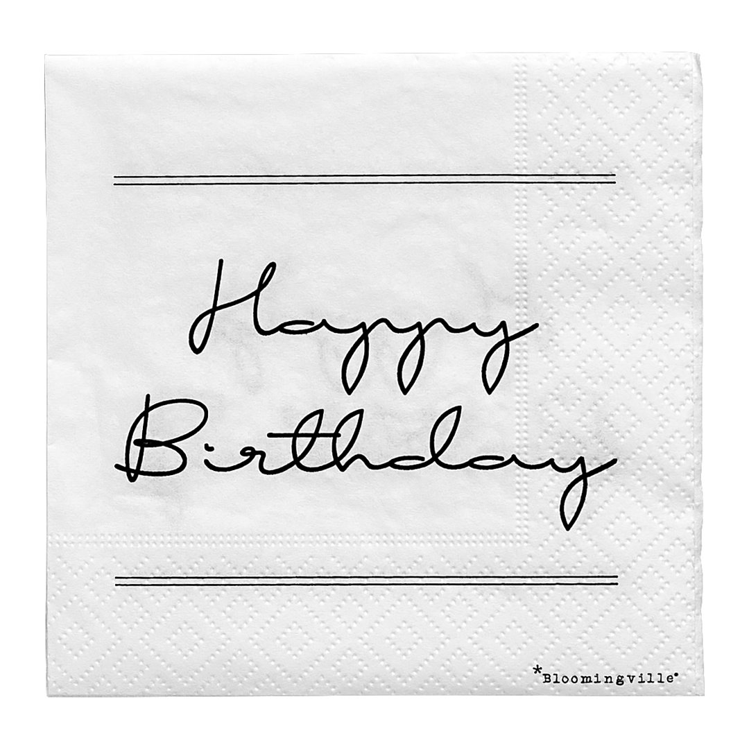 Serviette Happy Birthday - 1