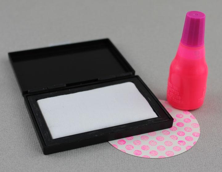 Stempelkissen Set Neon Pink