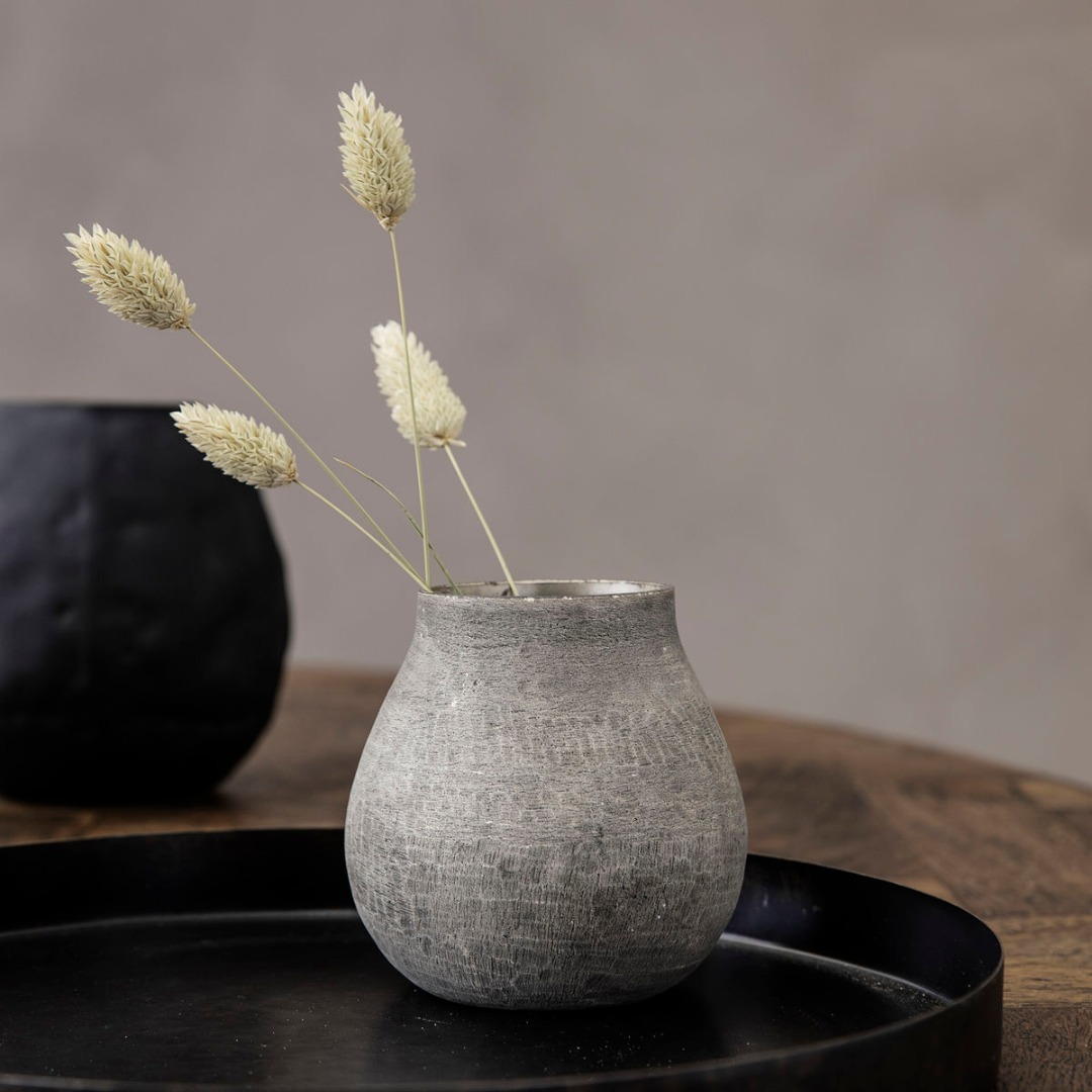 Vase Groove grau 2