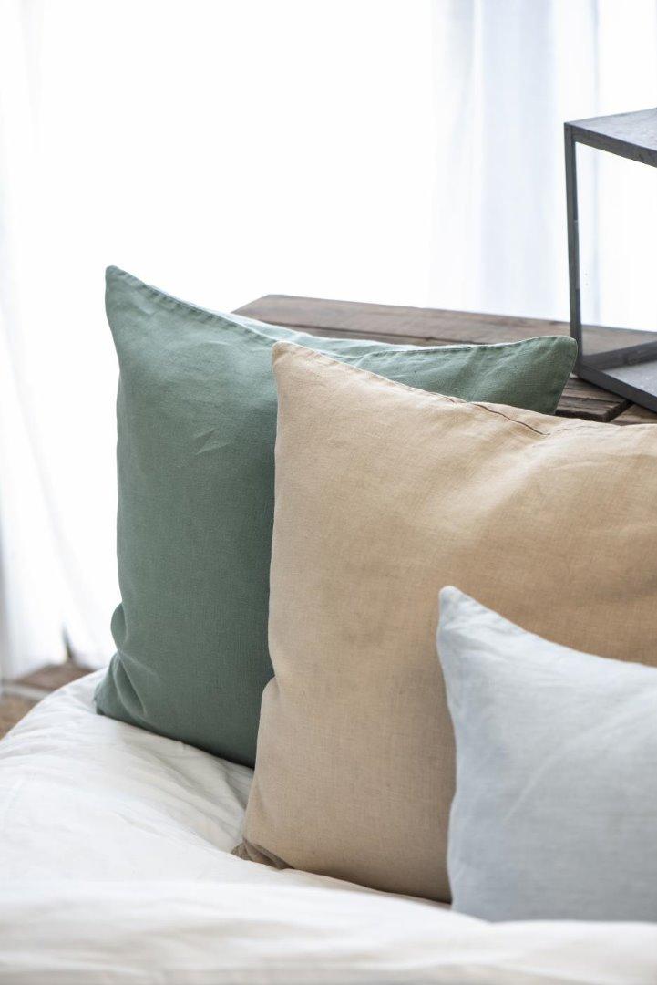 Kissenbezug aus Leinen 50x50/ honigfarben 3
