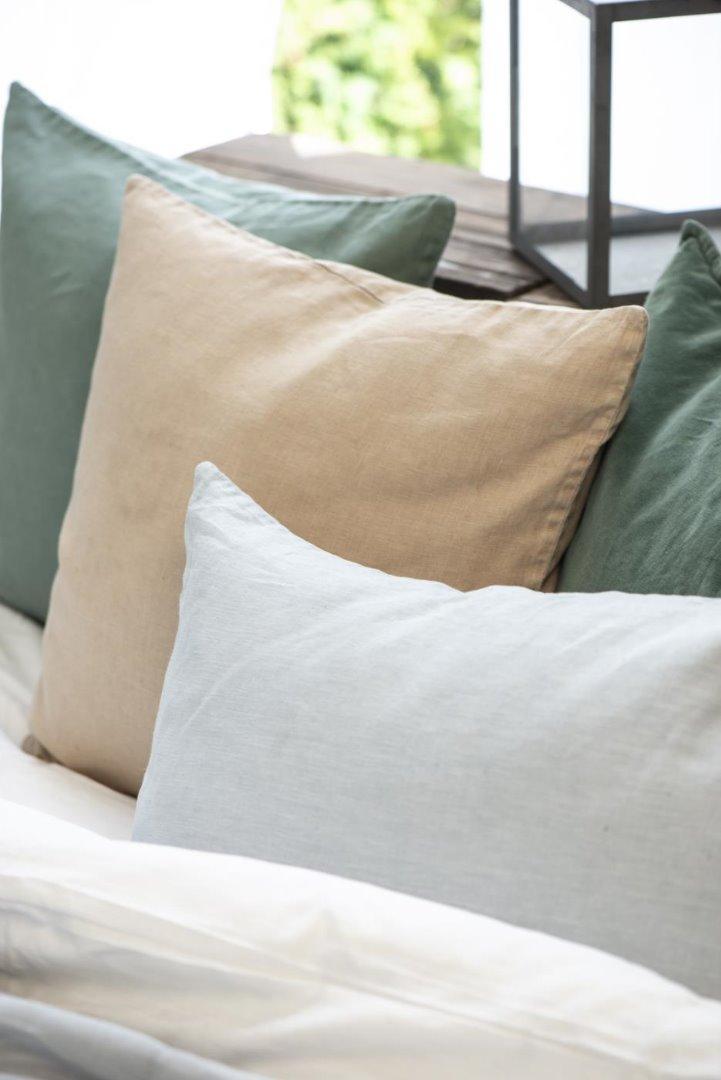 Kissenbezug aus Leinen 50x50/ honigfarben 2