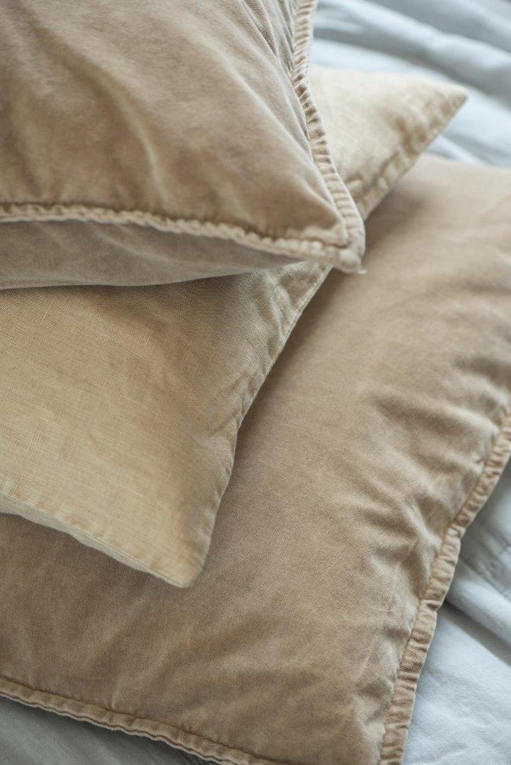 Kissenbezug aus Leinen 50x50/ honigfarben 6