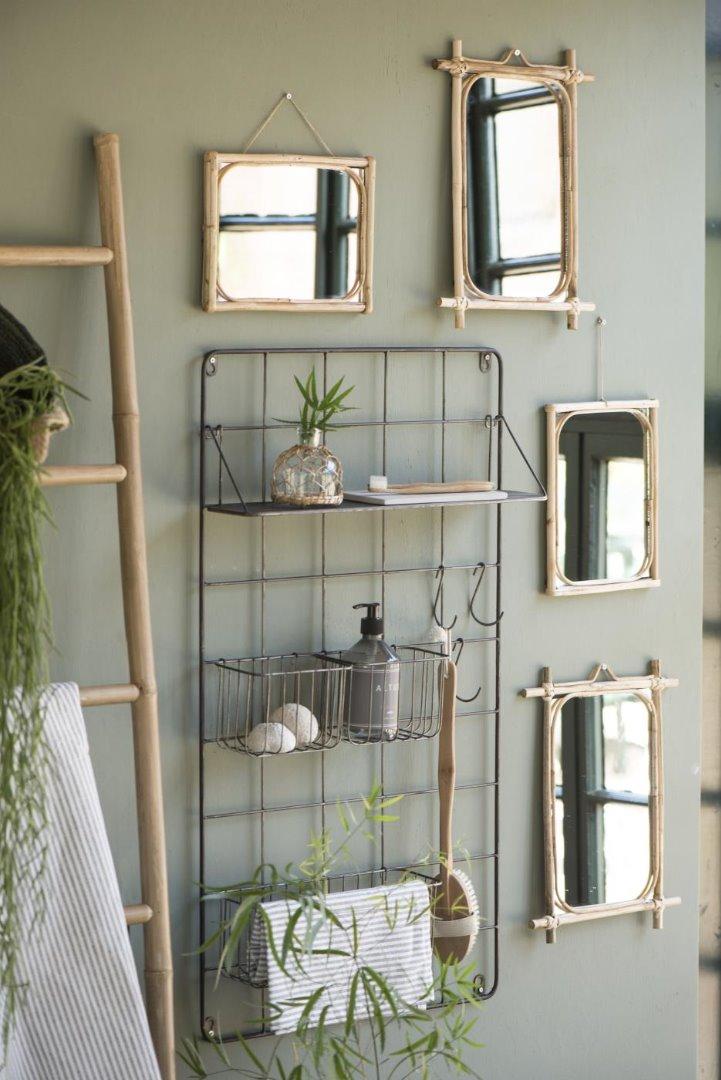Spiegel zum Aufhängen / Bambus 5