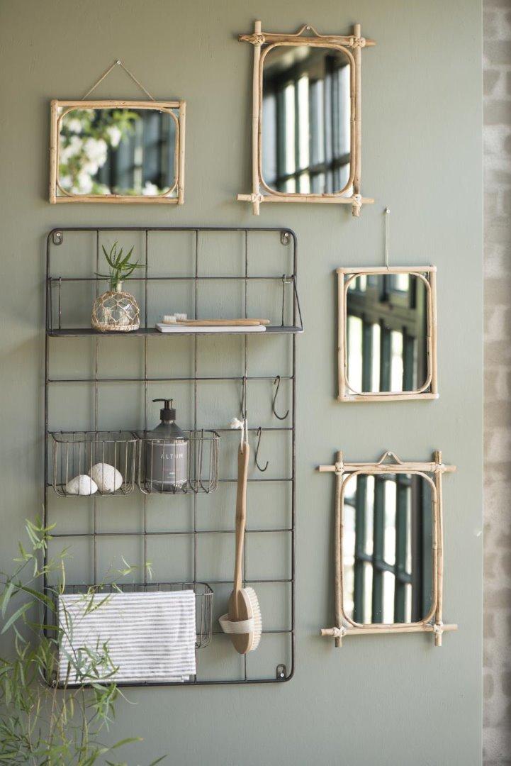 Spiegel zum Aufhängen / Bambus 4
