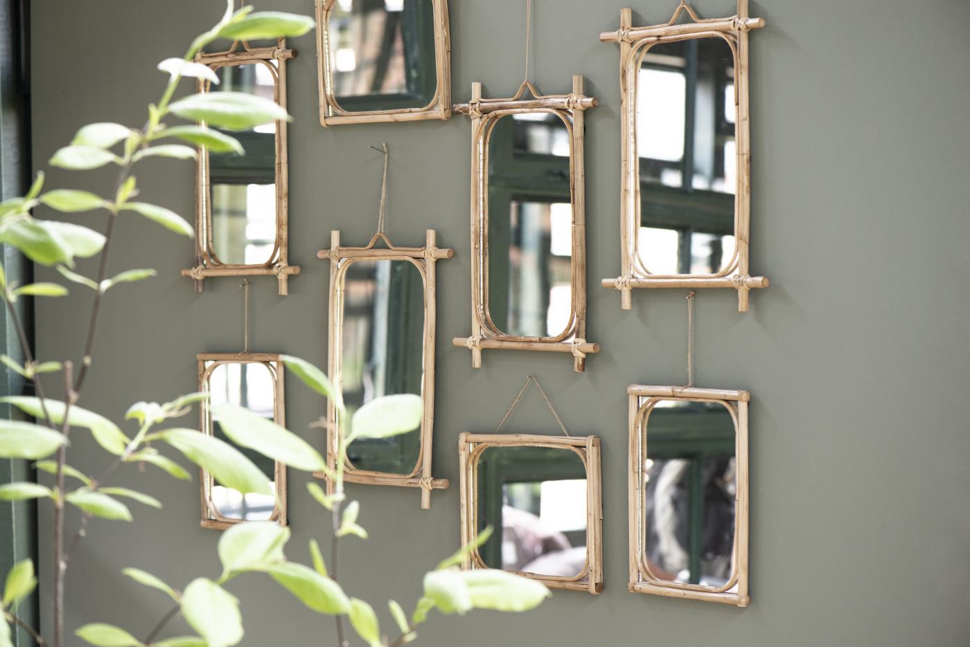 Spiegel zum Aufhängen / Bambus 3