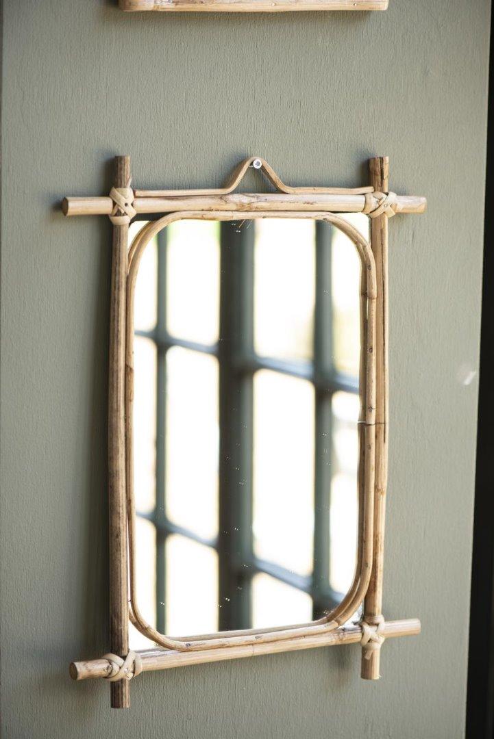 Spiegel zum Aufhängen / Bambus 2