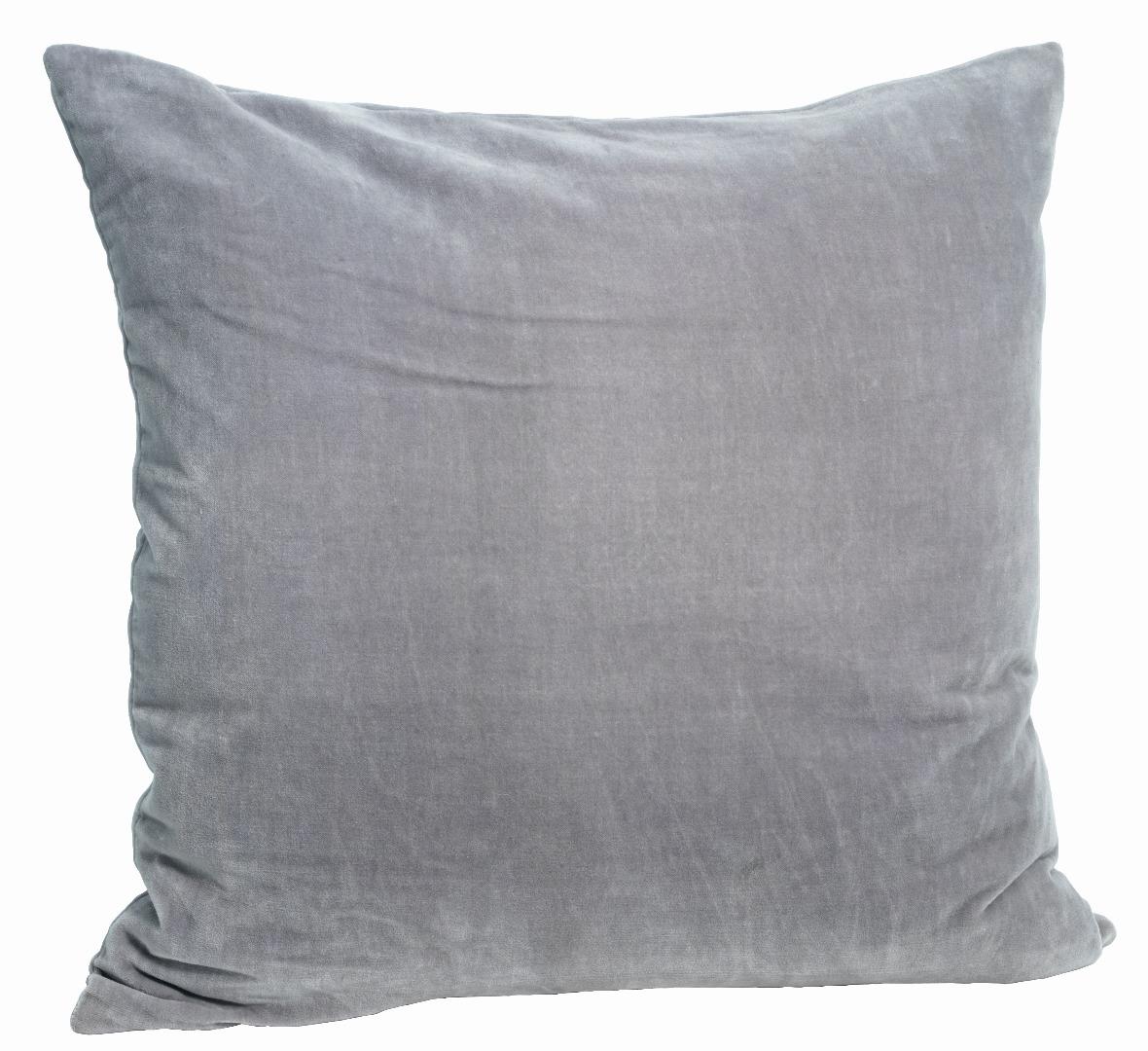 Kissenbezug Velvet hellgrau/blau
