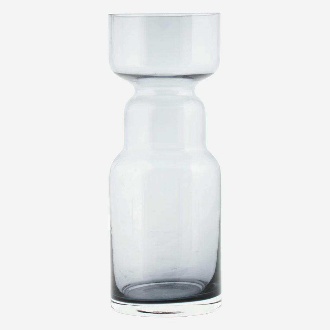 Stk Vase CINTH aus Glas grau