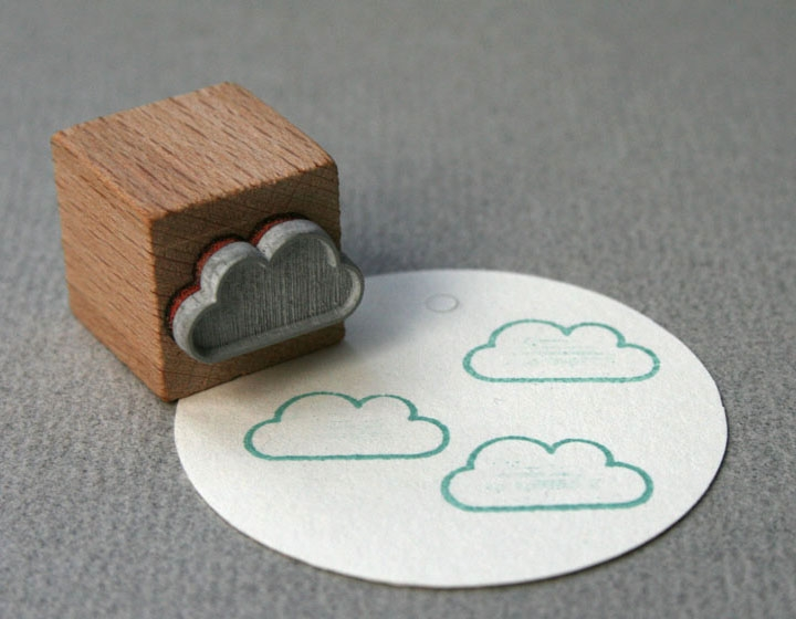 Stempel Wolke outline