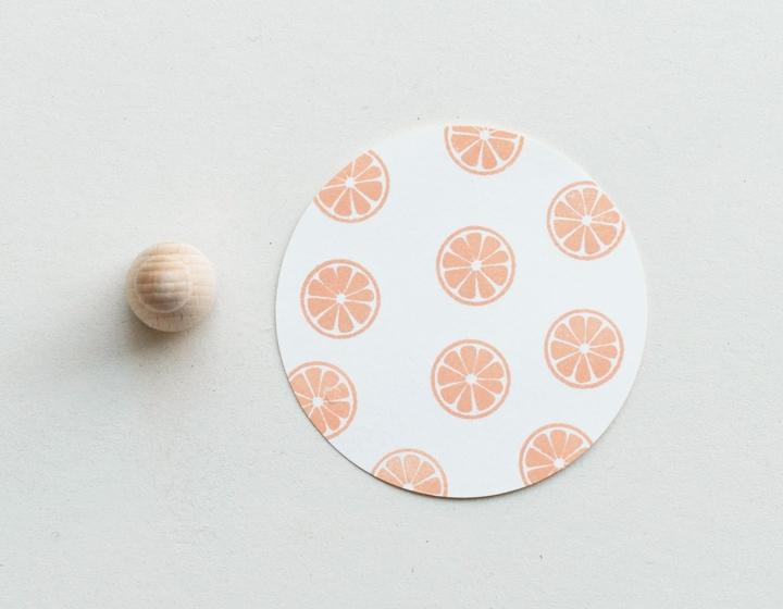 Stempel Zitronenscheibe klein
