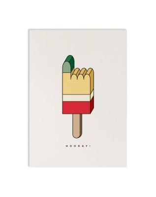 Postkarte geometric pointer - Postkarte DIN A6