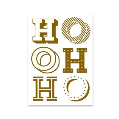 Postkarte Ho Ho Ho