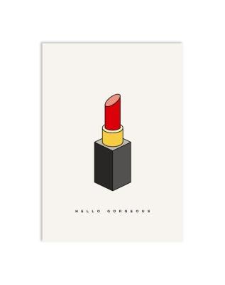 Postkarte lipstick - Postkarte DIN A6