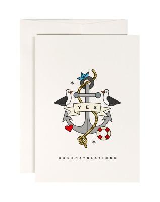 Klappkarte love boat - Klappkarte DIN A6 mit Umschlag