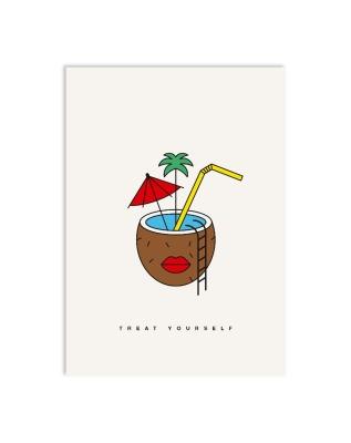 Postkarte coconut dreams Postkarte DIN A6