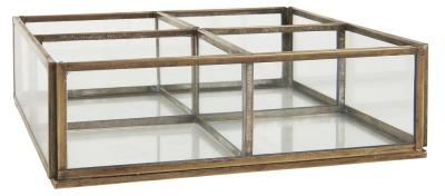 Glasbox mit 4 Fächern - offen