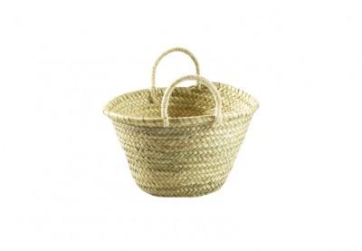 Kindertasche aus Palmblatt natur mit Sisalgriffen - L29xB24xH17cm