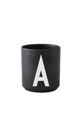schwarzer Porzellanbecher A - Design Letters