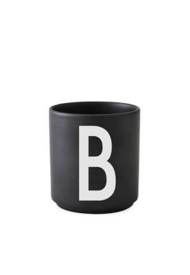 schwarzer Porzellanbecher B - Design Letters