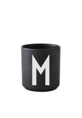schwarzer Porzellanbecher M - Design Letters