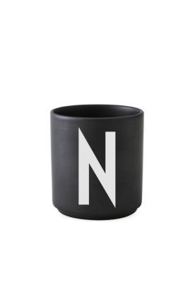 schwarzer Porzellanbecher N - Design Letters