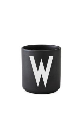 schwarzer Porzellanbecher W - Design Letters