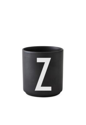 schwarzer Porzellanbecher Z - Design Letters