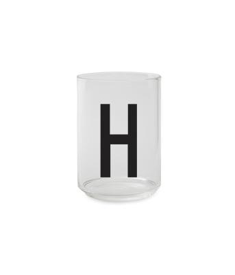Trinkglas H - Design Letters