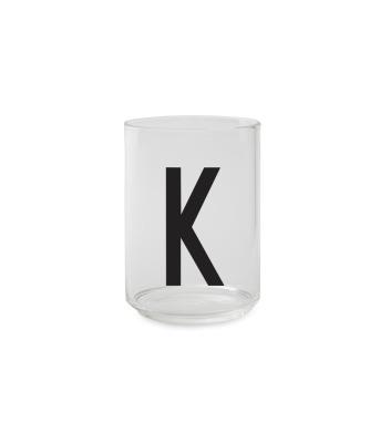Trinkglas K - Design Letters