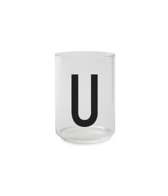 Trinkglas U - Design Letters