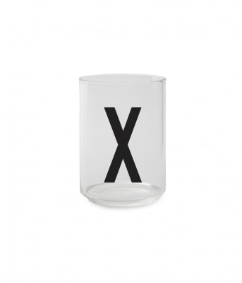 Trinkglas X - Design Letters