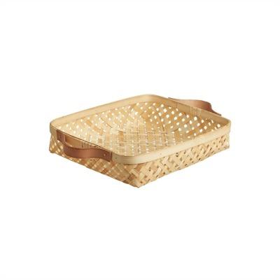 Bambuskorb mit Lederhenkeln sporta klein Oyoy