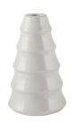 Kerzenhalter für Stabkerze Tanne weiß mittel