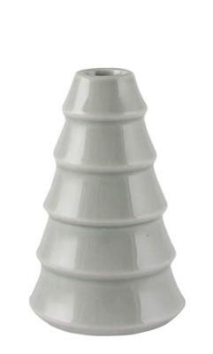 Kerzenhalter für Stabkerze Tanne hellgrau/bläulich