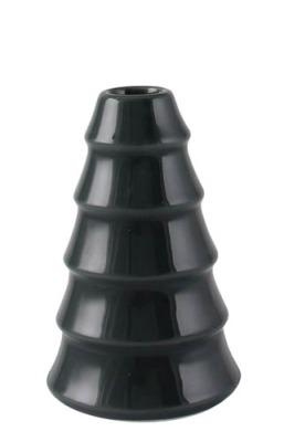 Kerzenhalter für Stabkerze Tanne dunkelgrau/bläulich