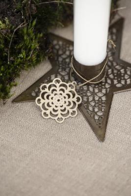 kleiner Kerzenhalter Stern aus Metall Ib
