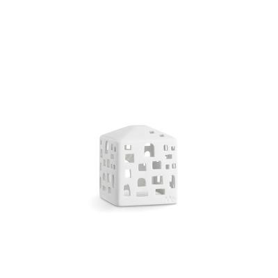 Windlicht - Urbania Lyshus Byhus - B: 90MM X H: 105MM; white