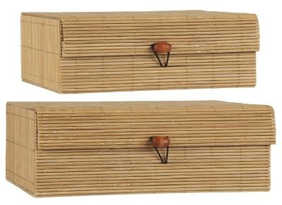 2er Set Bambusschachteln von Ib Laursen