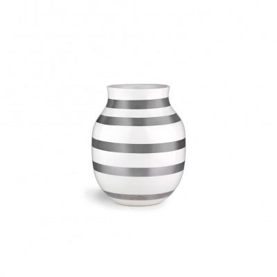 Vase Omaggio - B: 165MM X H: 200MM; silver