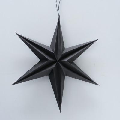 Stern zum Aufhängen schwarz aus recyceltem