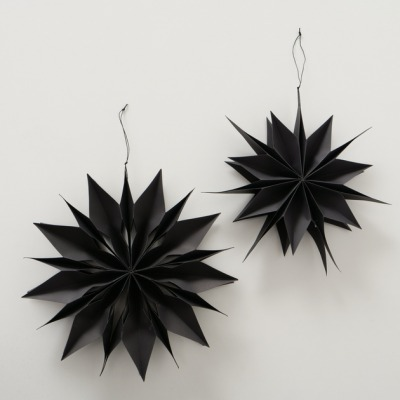 2er Set Sterne zum Aufhängen schwarz