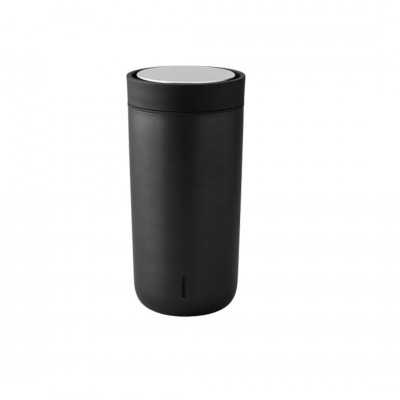 TO GO CLICK - THERMOBECHER XTRA-THERMO - schwarz metallic - STELTON