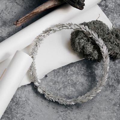 Kranz CIRCLE silber mit Glasperlen 20cm